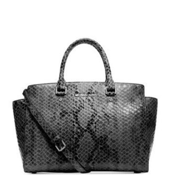 Michael Michael Kors Large Python Selma East West Satchel