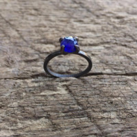 Sapphire Solitaire Ring in gold or silver