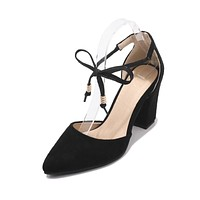 Pointed Toe Strappy High Heels Sandals Summer Shoes 8381