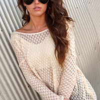 Cream Drop-Sleeve Tunic | The Rage