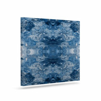 "Ebi Emporium ""Tie Dye Helix, Blue"" Blue White Canvas Art"
