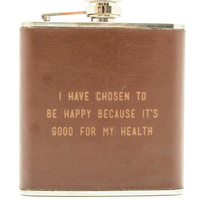 Happy Leather Flask