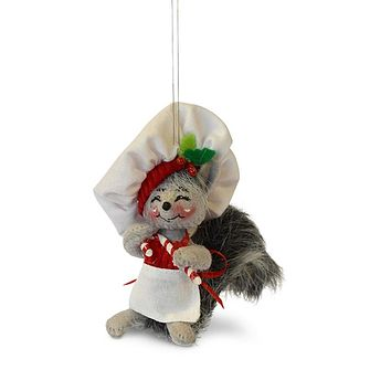 Annalee Dolls 4in 2018 Christmas Candy Cane Chef Ornament New with Box