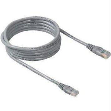Belkin Components 18in Cat5e Patch Cable, Utp, Gray Pvc Jacket, 24awg, T568b, 50 Micron, Gold Plat
