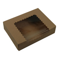 Brown Kraft Bakery Boxes With Window 8x6x2 175/Bundle