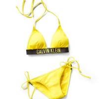 Calvin Klein Halter Triangle Beach Bikini Set Swimsuit Swimwear One-nice™