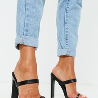 Missguided - Black Toe Post Barely There Mules