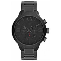 Armani Exchange AX1277 Men's Black Dial Black IP Steel Bracelet Chronograph Watch