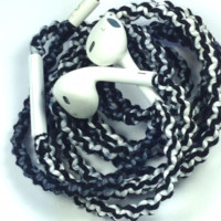Silky Shimmer - Tangle Free Earbuds - Wrapped Headphones - Your Choice of Headphones