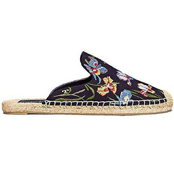Tory Burch Navy Max Floral Espadrilles