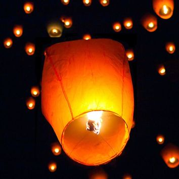50pcs Mix Color Chinese Paper Lanterns Sky Fire Fly Candle Lamp for Wish Wedding 694263303130