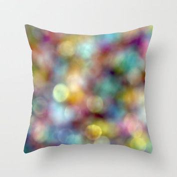Bokeh Party Throw Pillow by Shawn Terry King | Society6