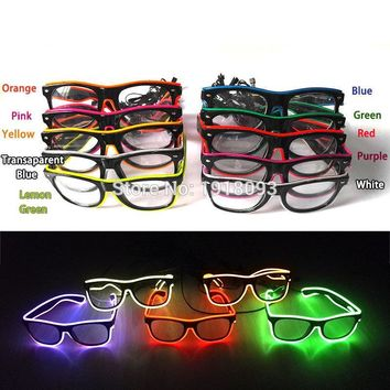 10 Colors Fashion Neon Novelty LED Light Up Glowing sports, Rave, Costume Party and DJ Glasses