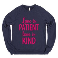 LOVE IS PATIENT, LOVE IS KIND Sweater Sweatshirt