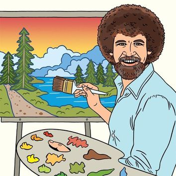 Happy Father's Day Bob Ross Card