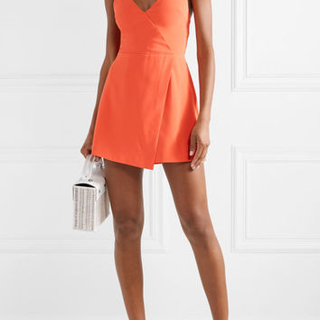 Alice + Olivia - Emery draped crepe playsuit