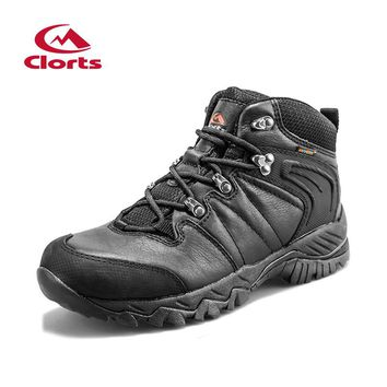 Clorts Genuine Leather Hiking Boots for Women Outdoor Mountain Shoes Waterproof Climbing Boots Outdoor Shoes HKM-822D