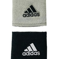 Adidas Interval Reversible Wristbands - black/grey