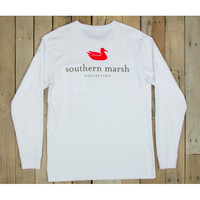 Southern Marsh Authentic Long Sleeve Tee - White