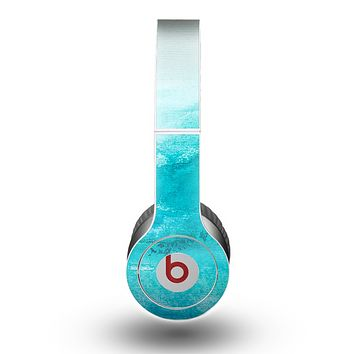 The Grungy Blue Watercolor Surface Skin for the Beats by Dre Original Solo-Solo HD Headphones