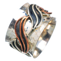 Spinner Ring - Two Tone Wave
