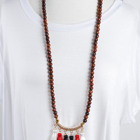 The Isabella Necklace - Red/White