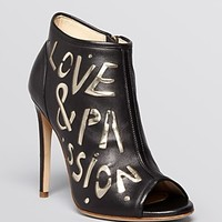 Jerome C. Rousseau Peep Toe Booties - Passion High Heel