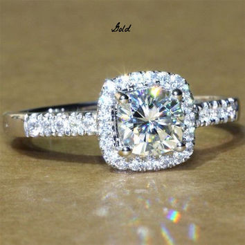 A Perfect 1.9CT Asscher Cut Halo Lab Diamond Ring