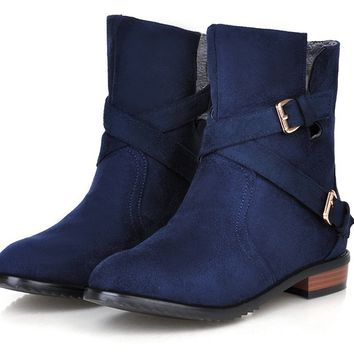 Womens Cool Buckle Strap Boots