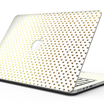 Tiny Golden Hearts Pattern - MacBook Pro with Retina Display Full-Coverage Skin Kit