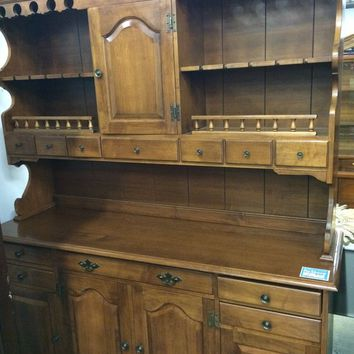 Vintage Sprague & Carlelon hutch China cabinet