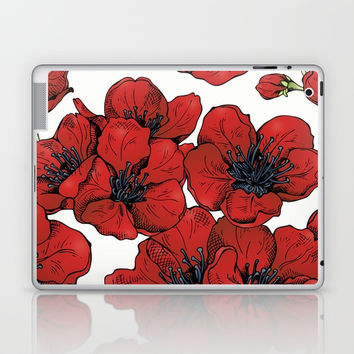 Poppies Pattern Laptop & iPad Skin by MIKART