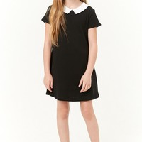 Girls Contrast Collar Dress (Kids)
