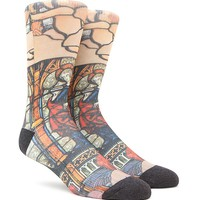 """New"" Socks Cathedral Stained Glass Crew Socks - Mens Socks - Multi - One"