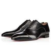 Greggo Flat Black Leather - Men Shoes - Christian Louboutin
