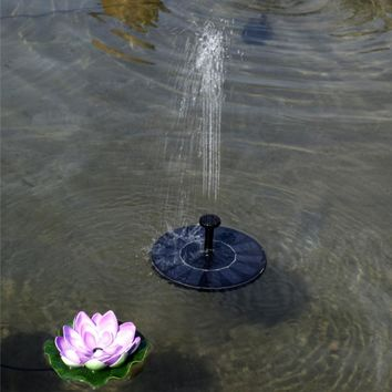 Floating Water Pump Solar Water Power Fountain For Garden