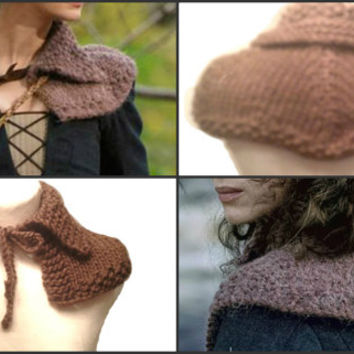 Claires Capelet Inspired Outlander Shoulder Warmer Knitting Pattern PDF File