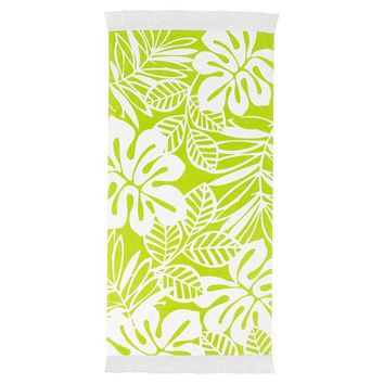 Leaf Fringe Beach Towel