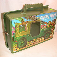 Vintage Combat Man Carry Case Action Figure Clothes Accessories