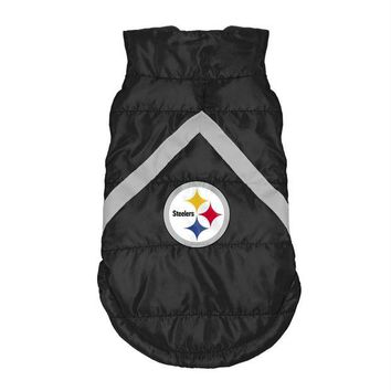 Chenier Pittsburgh Steelers Pet Puffer Vest