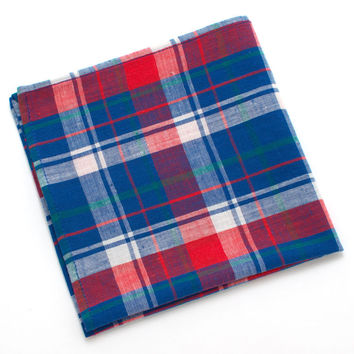 1950s Springfield Plaid Pocket Square