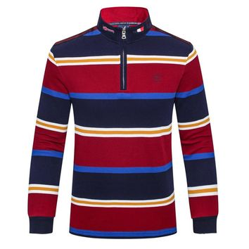 Men's cotton long sleeve Polo shirt autumn winter The new Tace&shark Business and leisure Men collar long sleeve men shirt