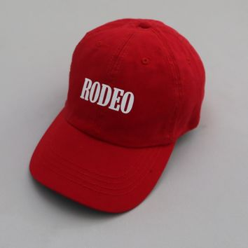 KYC Vintage — RODEO Red Strapback Cap