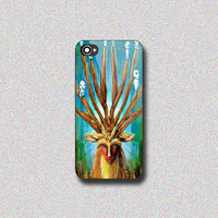 Princess Mononoke Forest Spirit - Print on Hard Cover for iPhone 4/4s, iPhone 5/5s, iPhone 5c - Choose the option in right side