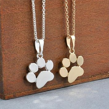 Chokers Necklace  Paw Print Animal Jewelry