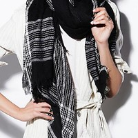 Free People Womens Mercer Woven Oversized Scarf