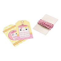 Custom Kawaii Girl Baby Shower Thank You Gift Tags Pack Of Gift Tags