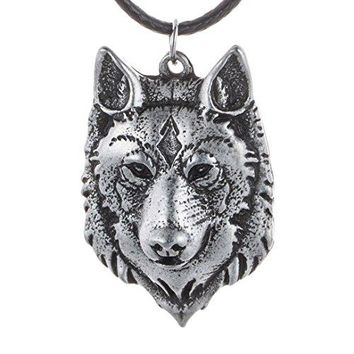 SHIP BY USPS: Mens Wolf Head Necklace Pendant for Men Norse Viking Warrior Arrow Headed Amulet Jewelry 4043