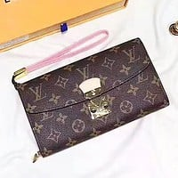 Louis Vuitton LV New Fashion Monogram Leather Purse Wallet Women