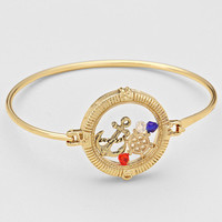 Anchor Locket Bracelet (Floating) Gold